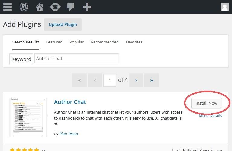 Wordpress Author Chat Install
