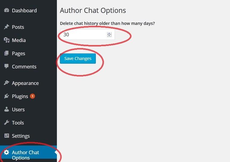 Wordpress Author Chat box option