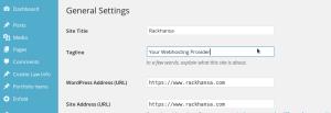 Wordpress Setting Tag Line