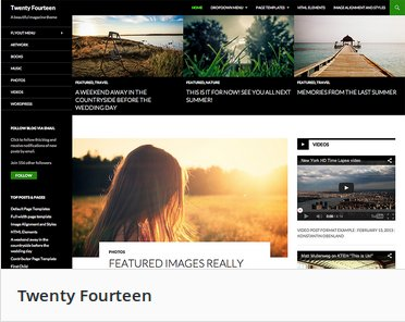 Wordpress Theme Feature Image