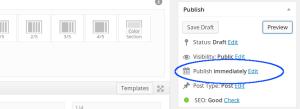 wordpress-publish-immediately